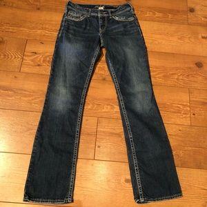 """Silver Suki 17"""" sz W27/L32 jeans"""